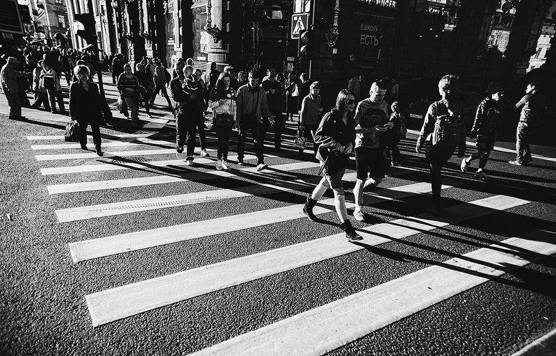 Black & white, Bw, City, People, Road, Saint-Petersburg, Город, Санкт-петербург, Фото, Ч/б, Чб, Черно-белое фото ***photo preview