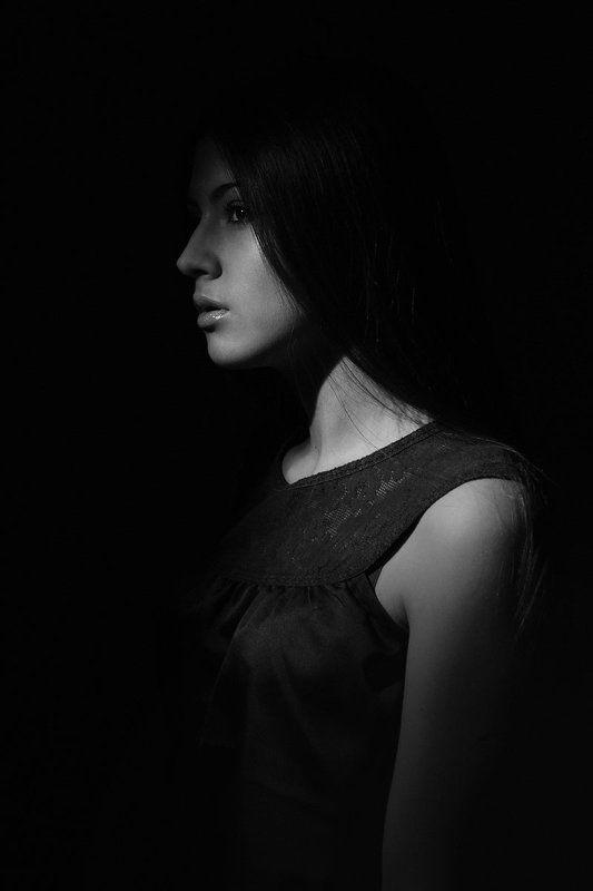Dark, Girl, Portrait, Портрет, Портрет девушки, Черно-белое lisaphoto preview