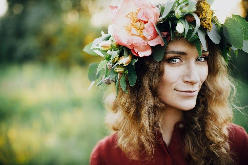портрет;, венок;, цветы;, девушка Светаphoto preview