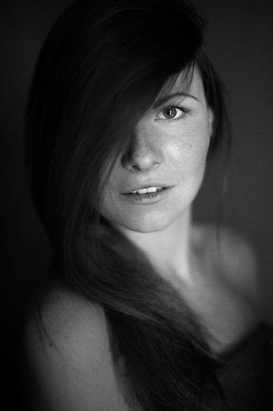 Black and white, Bw, Face, Girl, Portrait, Девушка, Портрет, Портрет девушки, Чб, Черно-белое ***photo preview