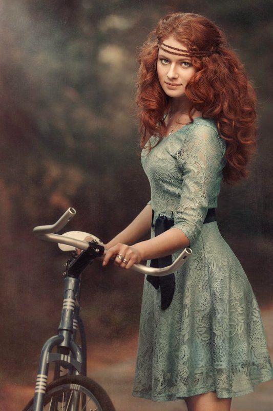 Велосипед, Девушка, Рыжая Юлияphoto preview