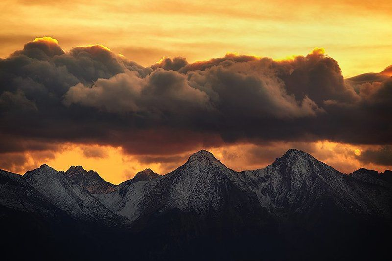 sunset in the Tatra mountainphoto preview