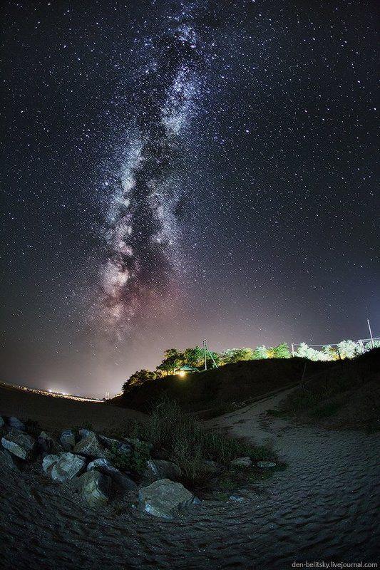 млечный путь, ночное небо, звёзды, галактика, пейзаж, украина Млечный путь в Новопетровкеphoto preview
