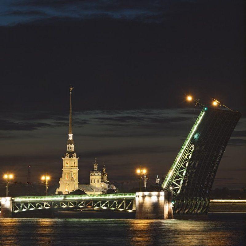дворцовый мост и петропавловская крепость, санкт-петербургphoto preview