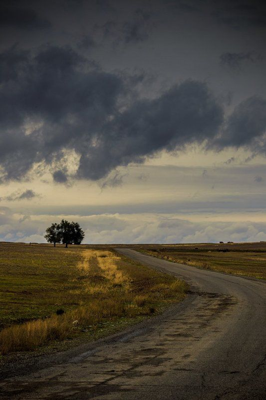 Aynabulak, Clouds, Kazakhstan, Road, Айнабулак, Просёлочная дорога ***photo preview