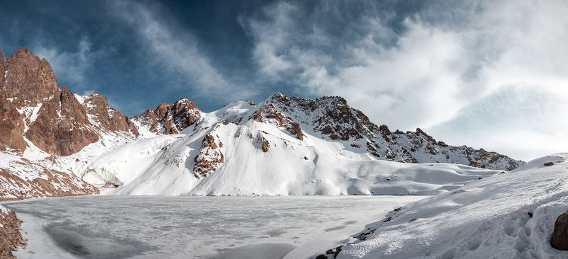 Almaty, Clouds, Glacier, Ice, Lake, Landscape, Mountain, Nature, Rocks, Sky, Snow, Winter Glacier and lake of Manshuk Mametova.photo preview