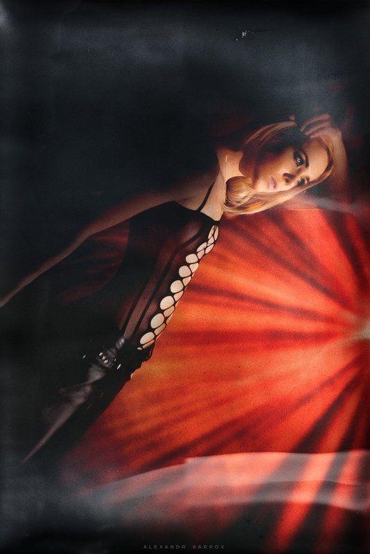 Девушка, Дедолайт, Красный, Постоянный свет, Светографика After patyphoto preview