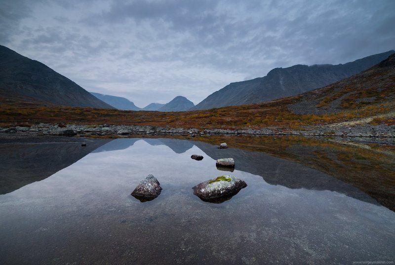 Autumn, Khibiny, Kola Peninsula, Lake, Mountains, Горы, Кольский, Озеро, Осень, Хибины Молчание горphoto preview