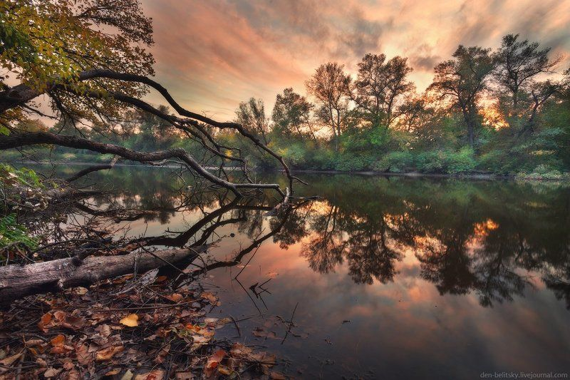 Закат, Осень, Пейзаж, Украина Остров Хортицаphoto preview
