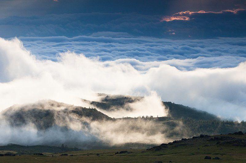 пейзаж,  горы ,   вулкан,    погода,  камчата Про переменчивую погодуphoto preview