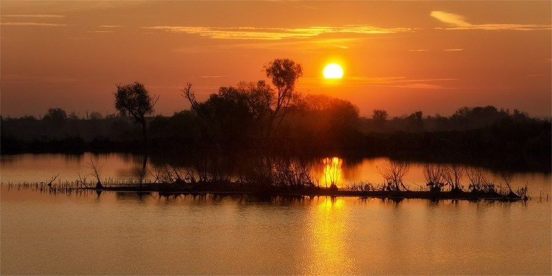Вода, Рассвет, Солнце, Утро Оранжевый Рассветphoto preview