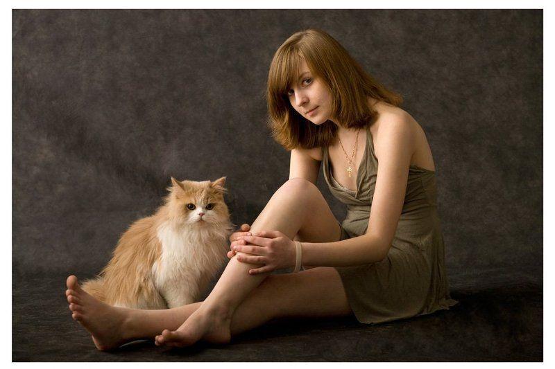 степан, ксения два рыжих котенка ...photo preview