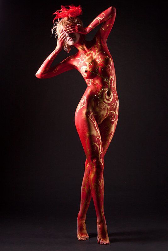 ню, бодиарт Lady Devil или Сон купца Калашниковаphoto preview