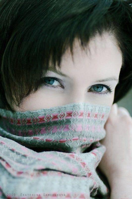 девушка, глаза взглядphoto preview