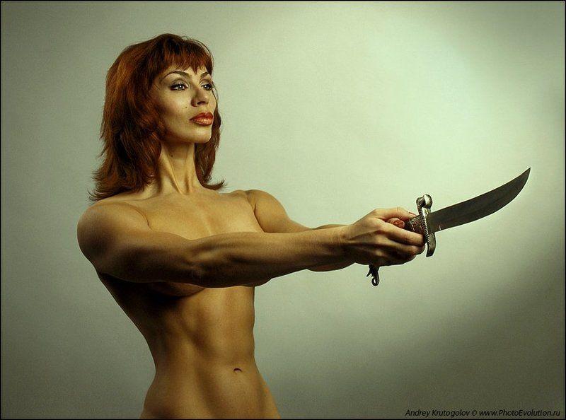 холодное, оружие, нож, девушка, ню, Холодное...photo preview