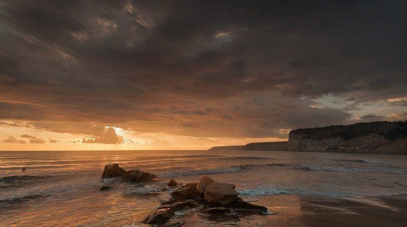 Cyprus, Kourion beach, Sea, Sunset Kourionphoto preview
