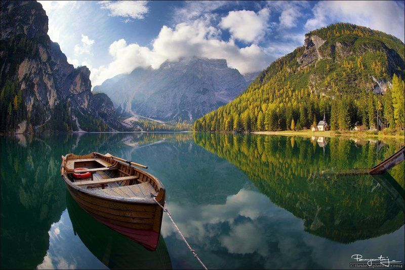 alps, boat, braies, dolomites, italy, lake, south, sunny, tyrol Sunny Lakescapephoto preview