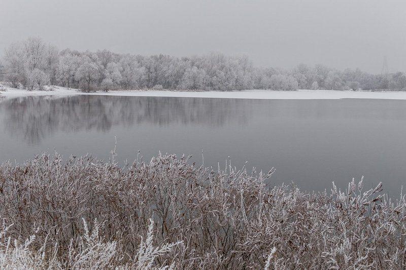 река зима river winter Пришла зима ...photo preview