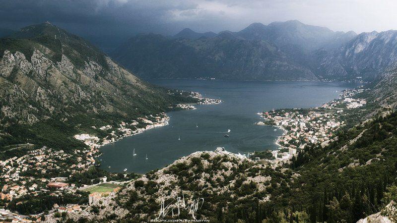 Montenegro, Адриатика, Боко-которский, Залив, Море, Непогода, Черногоирия Боко-Которский залив.photo preview