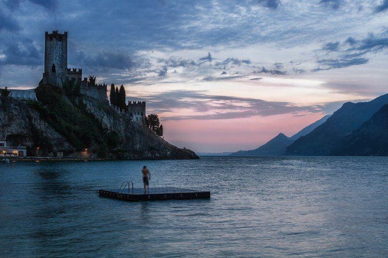 Гарда, Закат, Италия, Мальчезине ***photo preview
