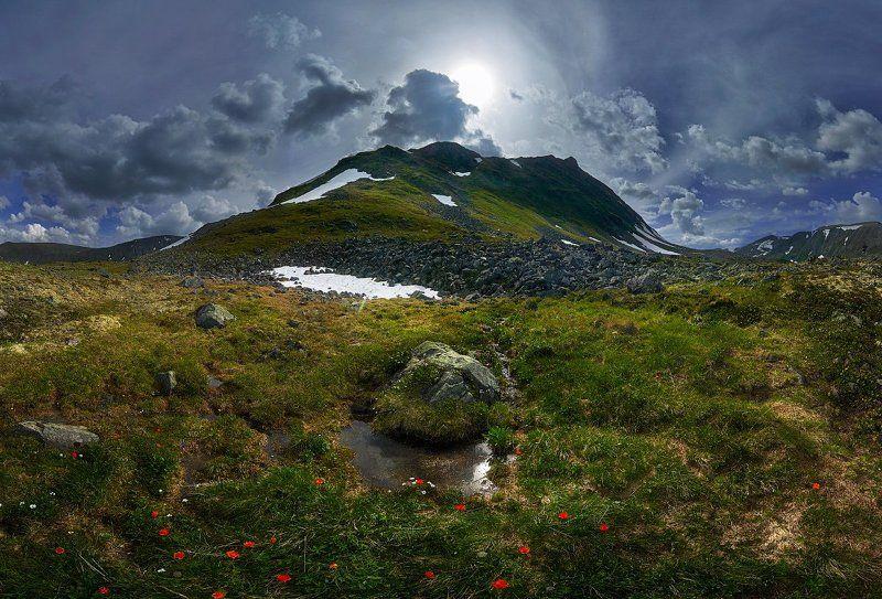 Долина вулканов, Республика Бурятия, Россия Перевал.photo preview