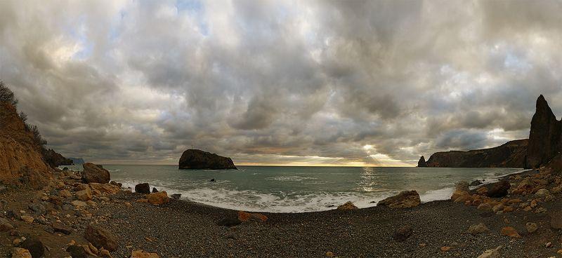 Крым. пейзаж. море. берег. небо. Берега Фиолента.photo preview