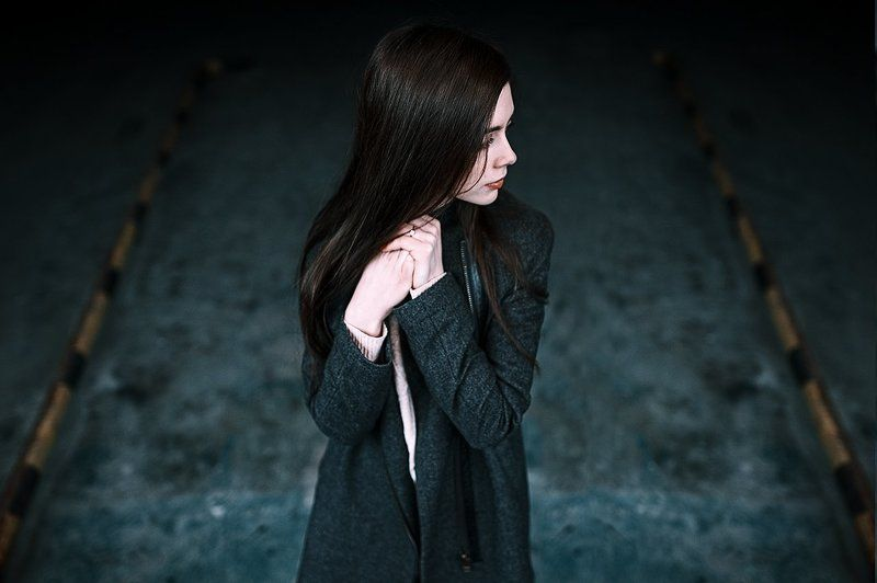 Black, Dark, Model, Russia, Sigma, Sigma 35 mm, Девушка, Портрет, Улица ***photo preview