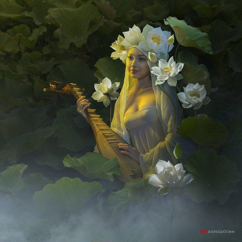 Сказка о любви охотника Сандара к озерной нимфе-апсаре, Шимайе