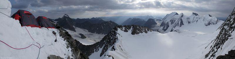 Делоне, альпинизм, лагерь, Катунский хребет, Алтай На ребре Делонеphoto preview