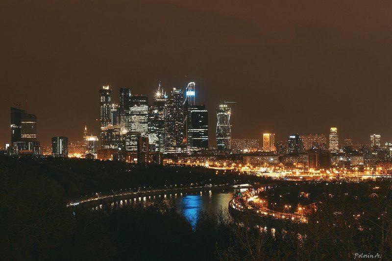 Москва, ночь, город, Москва-сити Night Moscowphoto preview