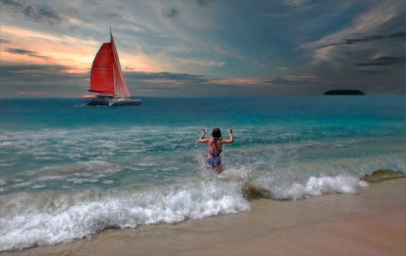 Морская стихия Алые парусаphoto preview