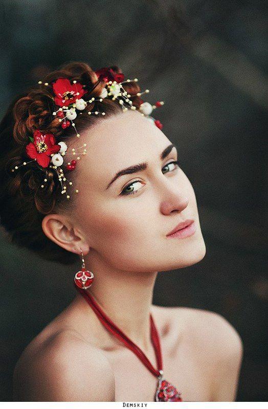 девушка, модель, портрет, цветы *photo preview