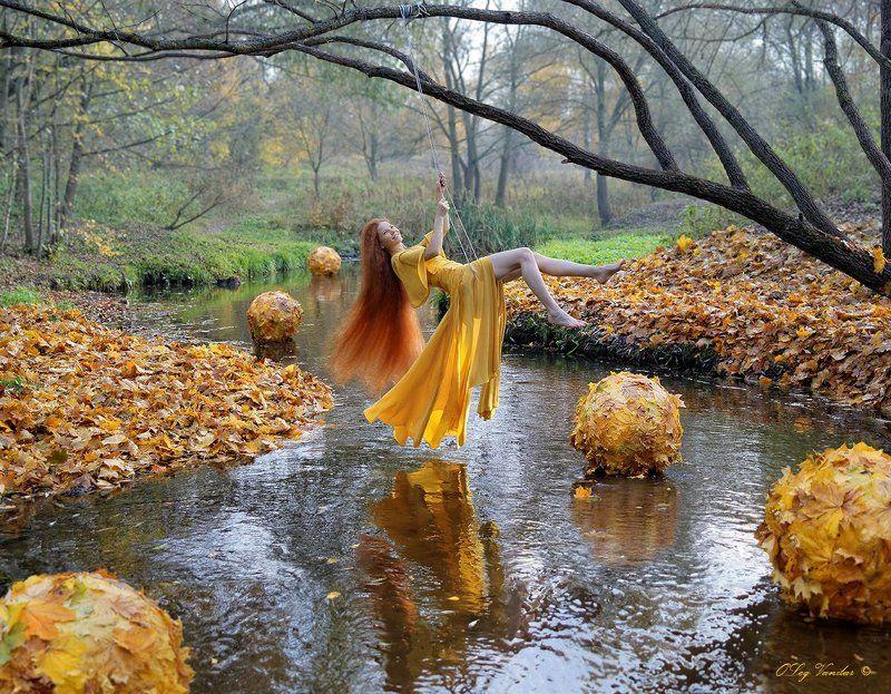 Вода, Девушка, Красота, Осень, Сюр собирая крупицы пространстваphoto preview