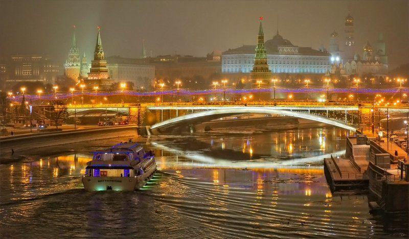 Ночной город, Москва Вечерняя Москваphoto preview