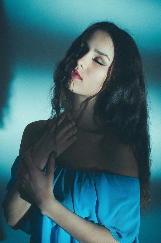 ukraine girl, в синем, давидчук, девушка, портрет девушки, студия Мирославаphoto preview