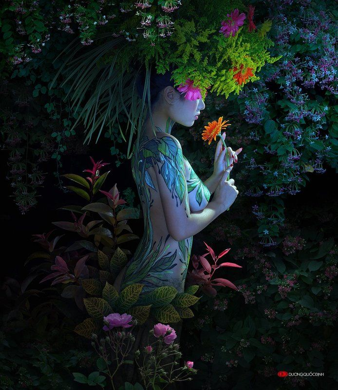 Лето и Осень в женских образах. Вьетнамский фотохудожник duong quoc dinh