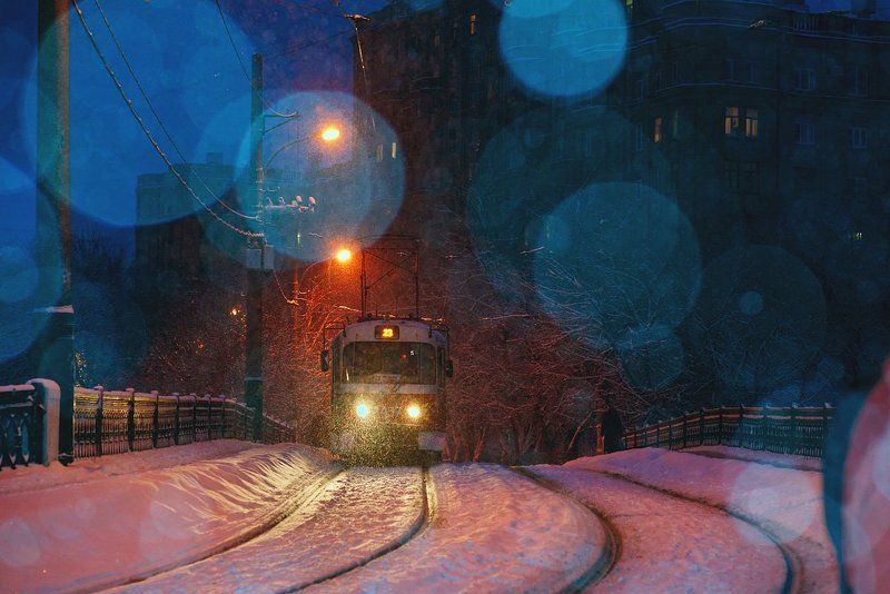 Снежный трамвайчикphoto preview
