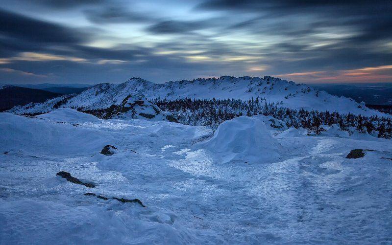 Горы, Зима, Таганай, Южный урал 147 секунд Дальнего Таганаяphoto preview