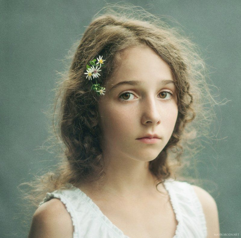 Girl, Mayboroda, Photo, Portrait Autumn Flowersphoto preview