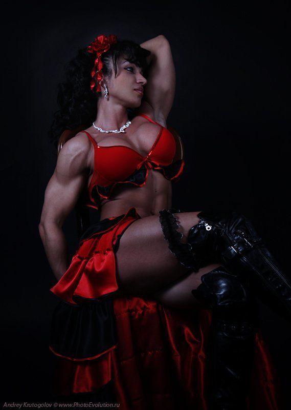 бодибилдинг, фитнес, спорт, мышцы, грудь, девушка, женщина, портрет, амазонка ***photo preview