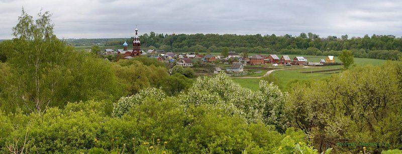 городок, луг, пейзаж Боровские просторыphoto preview