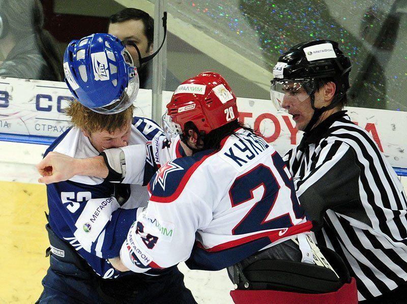 хоккей, динамо, цска, драка ***photo preview