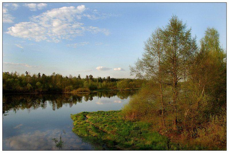 пейзаж, река, лето В лучах заката...photo preview