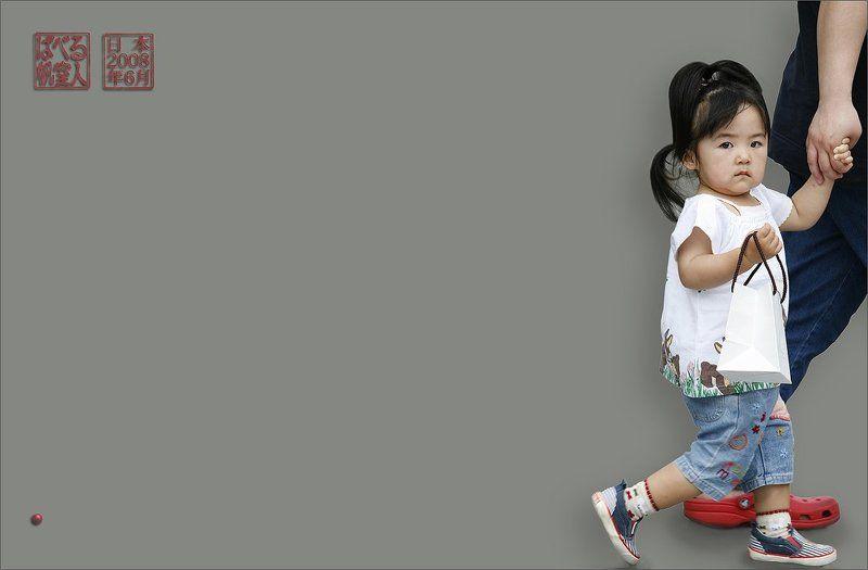 япония, нагойя, девочка, прощание, взгляд, подарок Прощальный Взглядphoto preview