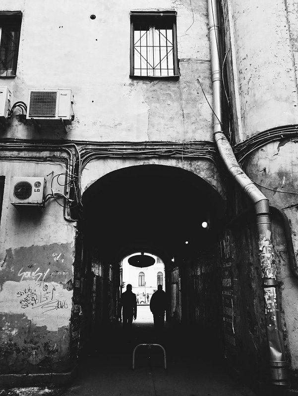 Black & white, City, People, Photo, Saint-Petersburg, Street ***photo preview