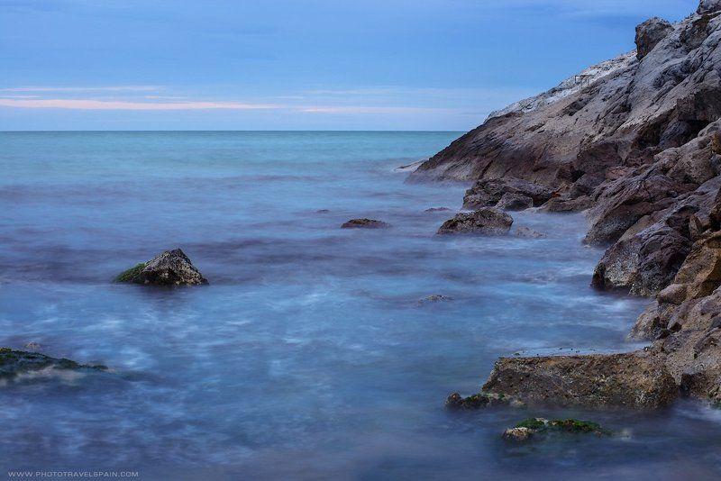 море,скалы,вечер, ночь, испания Море, подари свои штормаphoto preview