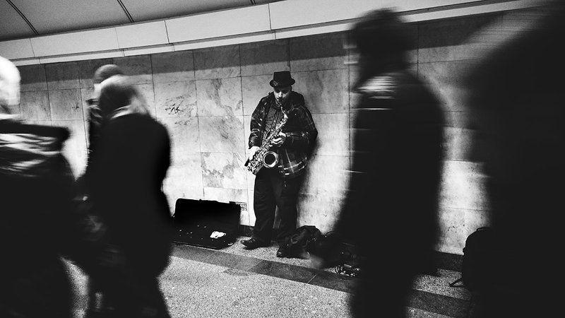 Музыка, Ч/б, Человек, Черно-белое фото ***photo preview