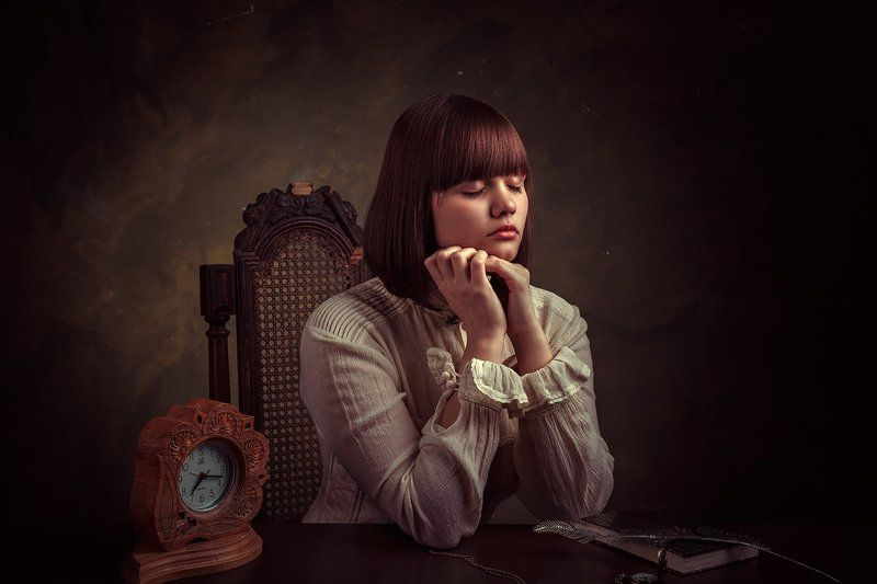девушка, портрет, мечты,  Dreamphoto preview