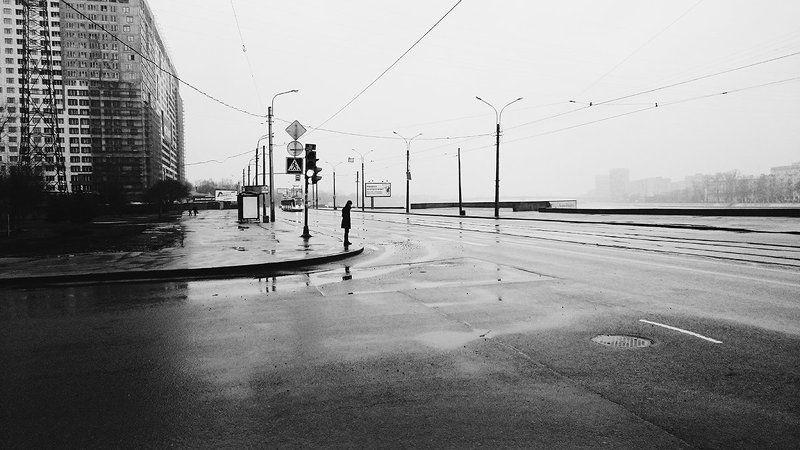 B&w, City, People, Saint-Petersburg ***photo preview