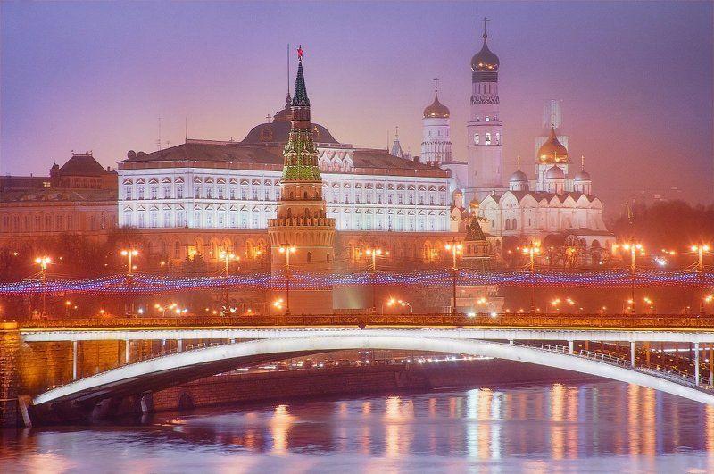 кремль, москва, москва-река, россия, столица Кремль. Большой Московский мост.photo preview